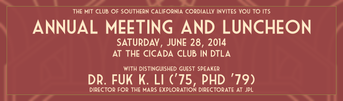 MIT Club of Southern California - MITCSC Annual Meeting ...